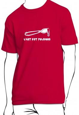 T-shirt L'art est pulsions